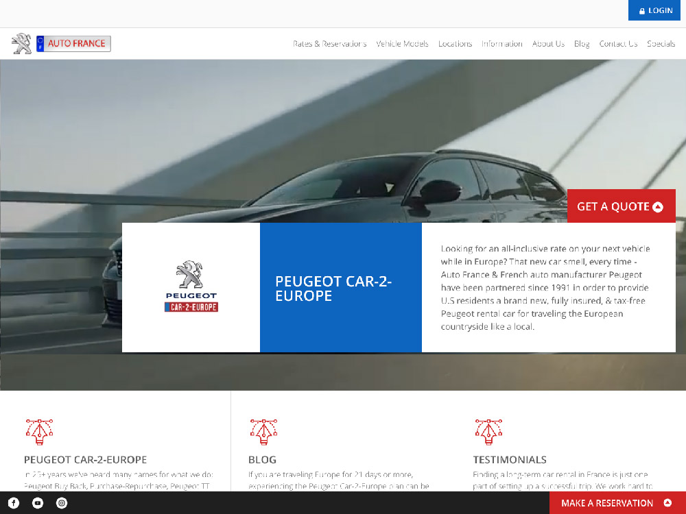 Auto France Website Screenshot