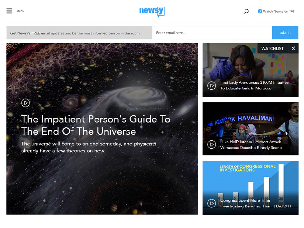 Newsy Website Screenshot